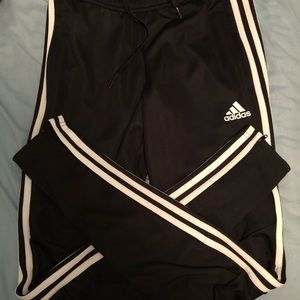 Adidas joggers with pockets and zippered leg